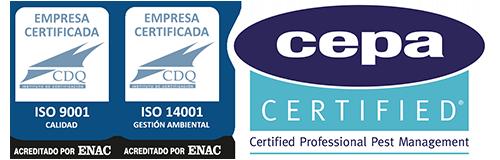Control de Plagas Madrid Certificados ISOs y CEPA